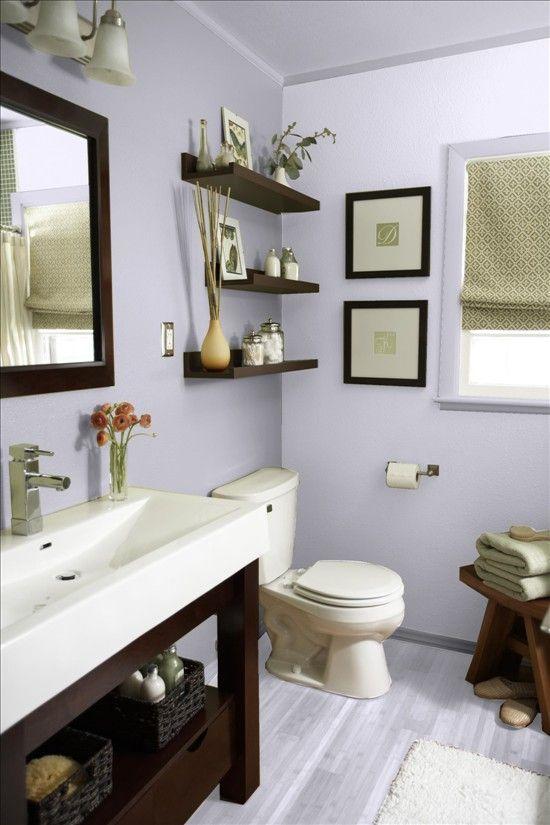 muebles simples y de madera para tu baño DECORACIÓN INTERIOR