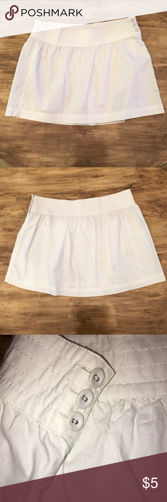 White Miniskirt White skirt from Abercrombie and Fitch. Size two. 100% cotton and washer and dryer safe. Abercrombie & Fitch Skirts Mini