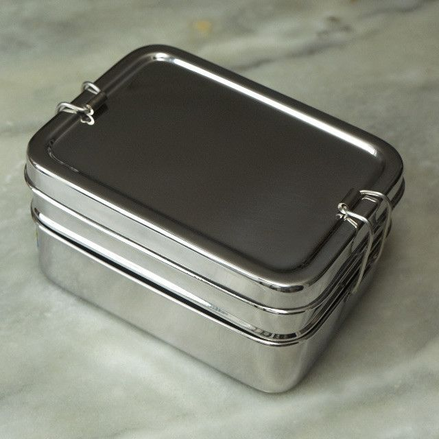 ecolunchbox stainless steel tiffin eco lunchbox metal bento box potager kitchen gadgets. Black Bedroom Furniture Sets. Home Design Ideas