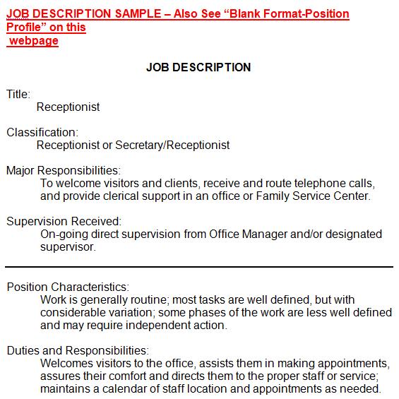 5+ Job Description Templates