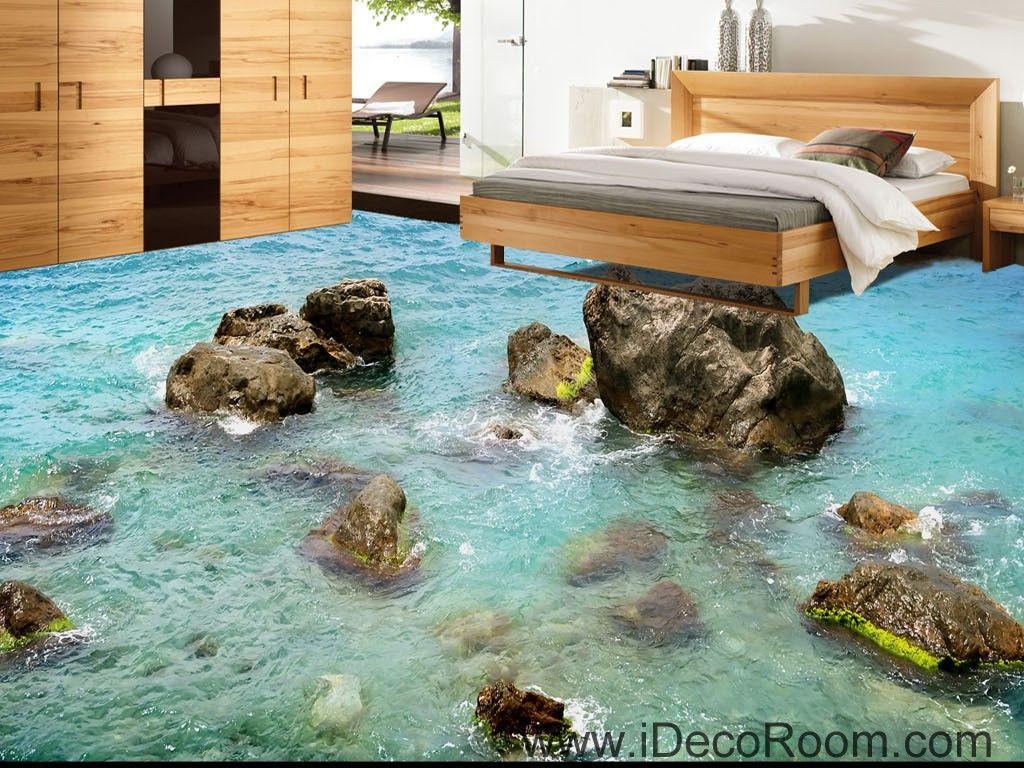 Sea ocean rocks 00040 floor decals 3d wallpaper wall mural sea ocean rocks 00040 floor decals 3d wallpaper wall mural stickers print art bathroom decor living amipublicfo Gallery