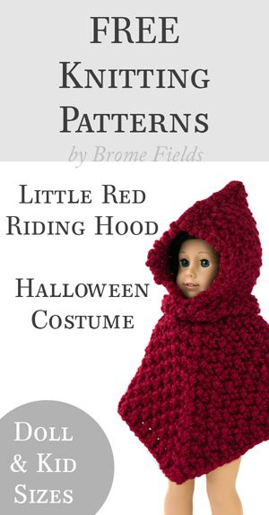 FREE Knitting Pattern: Little Red Riding Hood Halloween Costume by ...