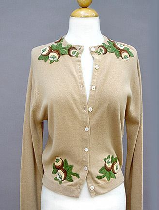 Vintage 1960s Pringle Cashmere sweater with cool design elements ...