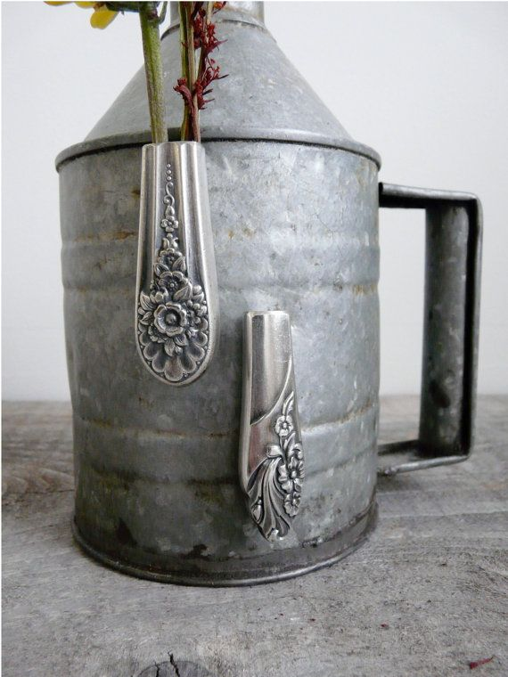 magnetic silverware bud vase upcycled silver knife by revisions