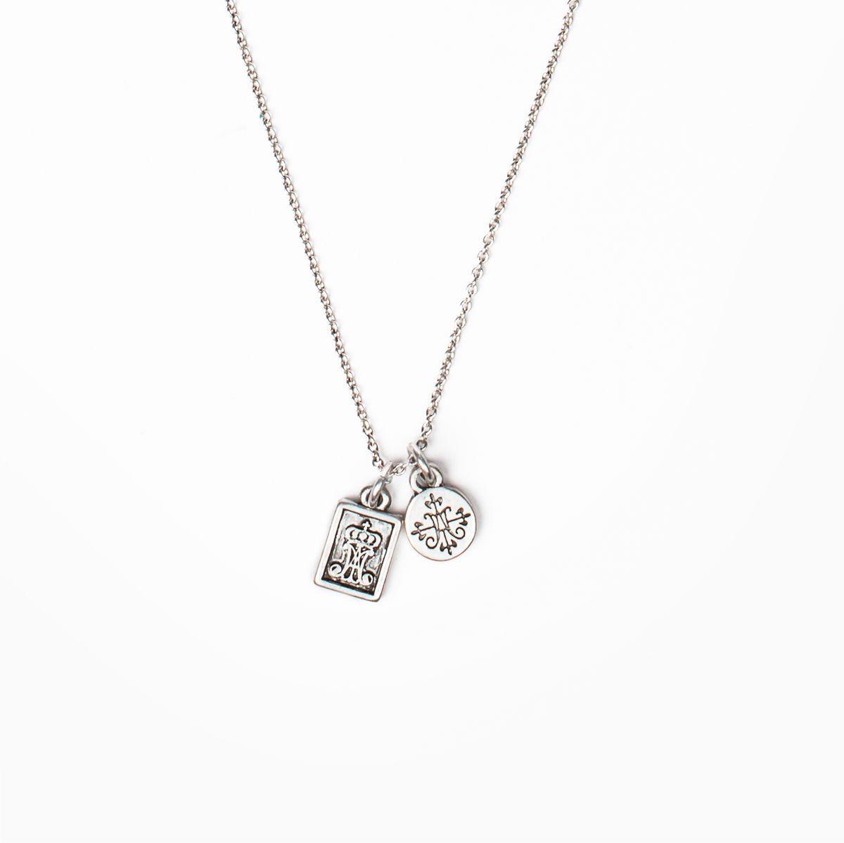 Garment Of Grace Petite Scapular Necklace In 2020 Scapular Necklace Scapular Necklace