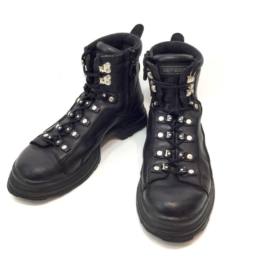Black Harley Mens Bridges Motorcycle Boot