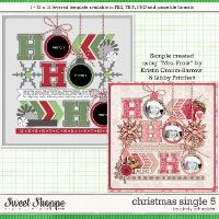 Cindy's Layered Templates - Christmas Single 5 by Cindy Schneider