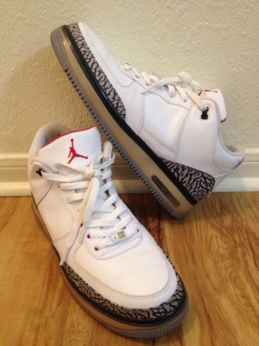 Nike Ajf 5 Jordan V Retro Air Force 1 Fusion White Cement Size 13  Basketball Af1 9bd2a72f99a9