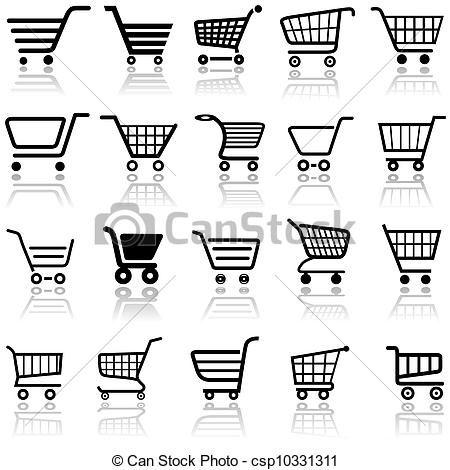 Carrino De Compras Carritos De Supermercado Letreros Para Negocios Logotipo De Tienda