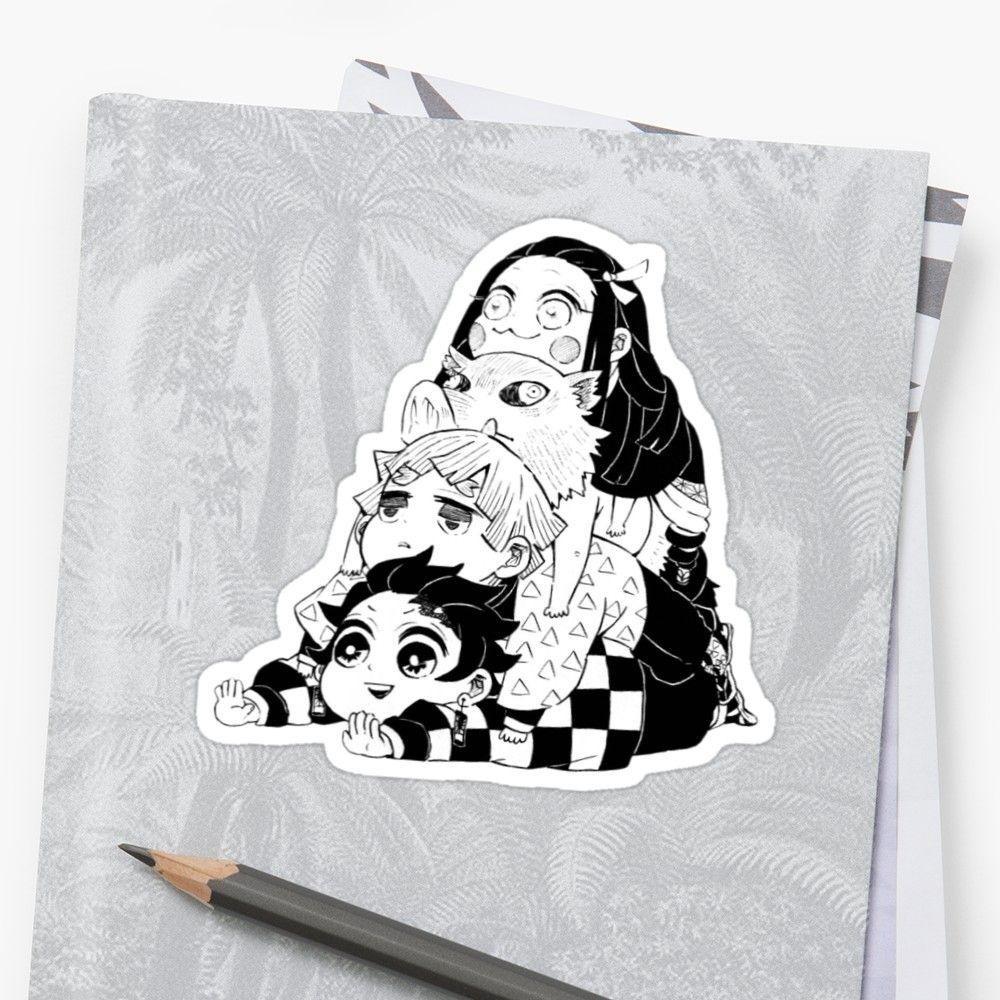 Demon Slayer Kimetsu No Yaiba Sticker By Supportbeam Slayer Vinyl Sticker Stickers [ 1000 x 1000 Pixel ]