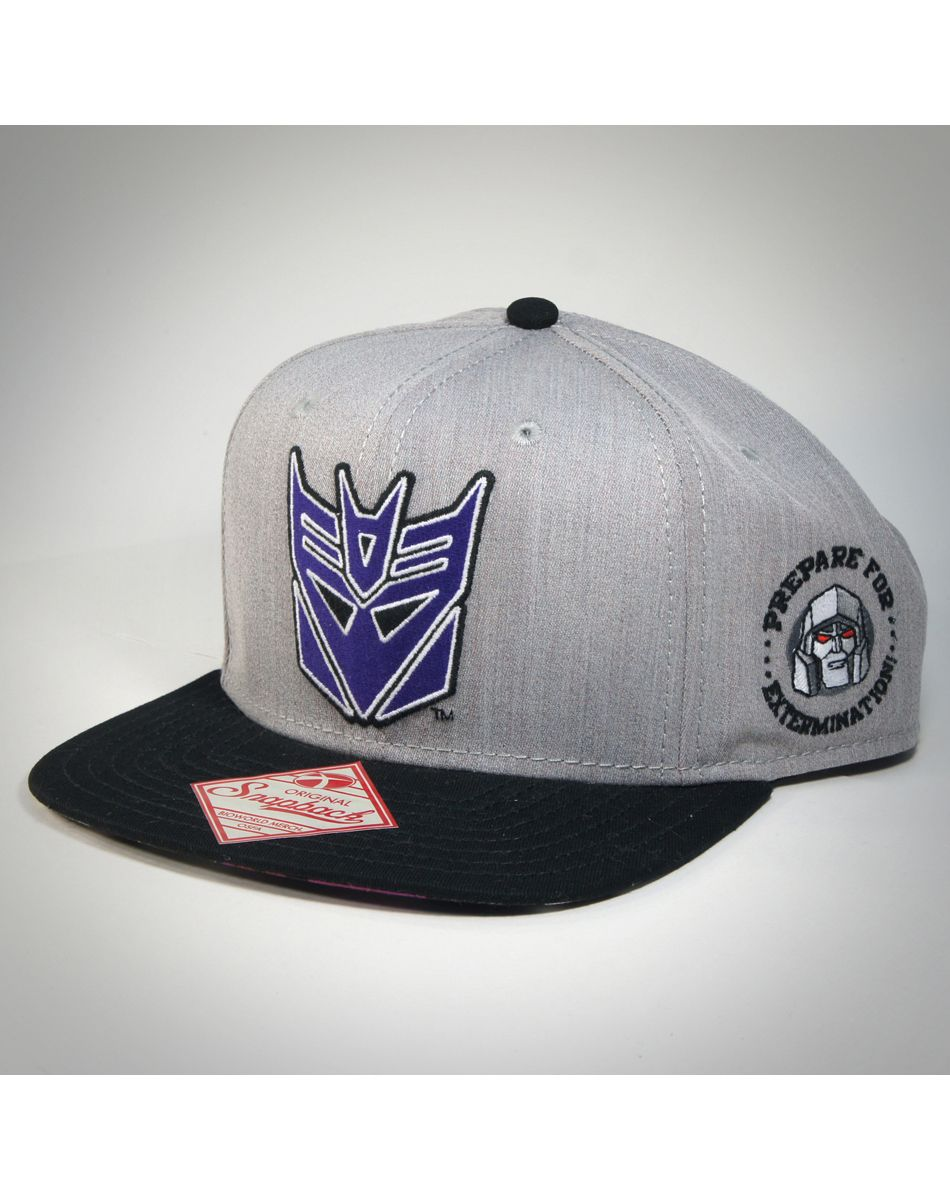 Decepticon Snapback Hat - On the bottom it has a image of Megatron from the  comics (or box art) dc6ab882646