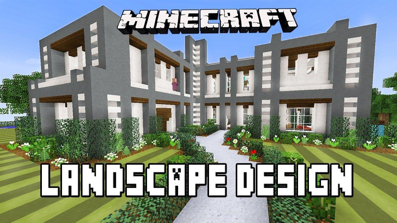 minecraft tutorial modern garden landscape design ideas modern house