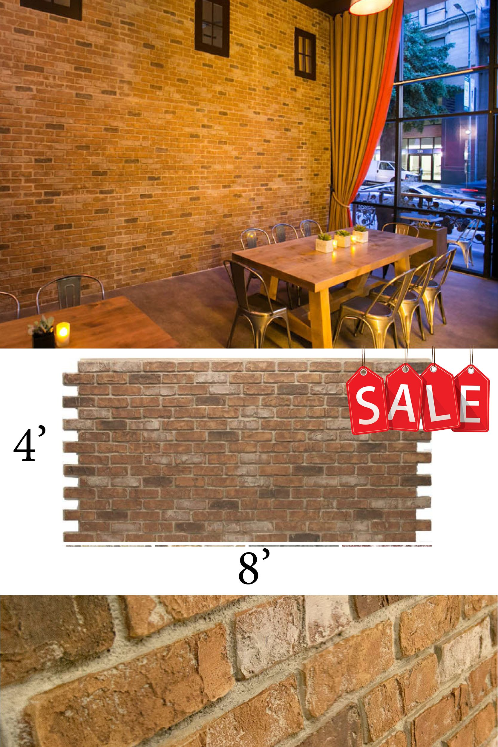 Diy Fake Brick Wall Used Brick Panels On Sale For Limited Time This Color Is Weathered Orange Most Realistic Fake Brick On The Market Attache Fake Brick Wall