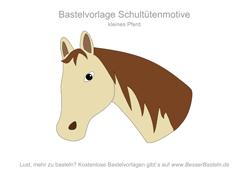 Kleiner Pferdekopf 3 Schultute Basteln Vorlage Schultute Basteln Basteln