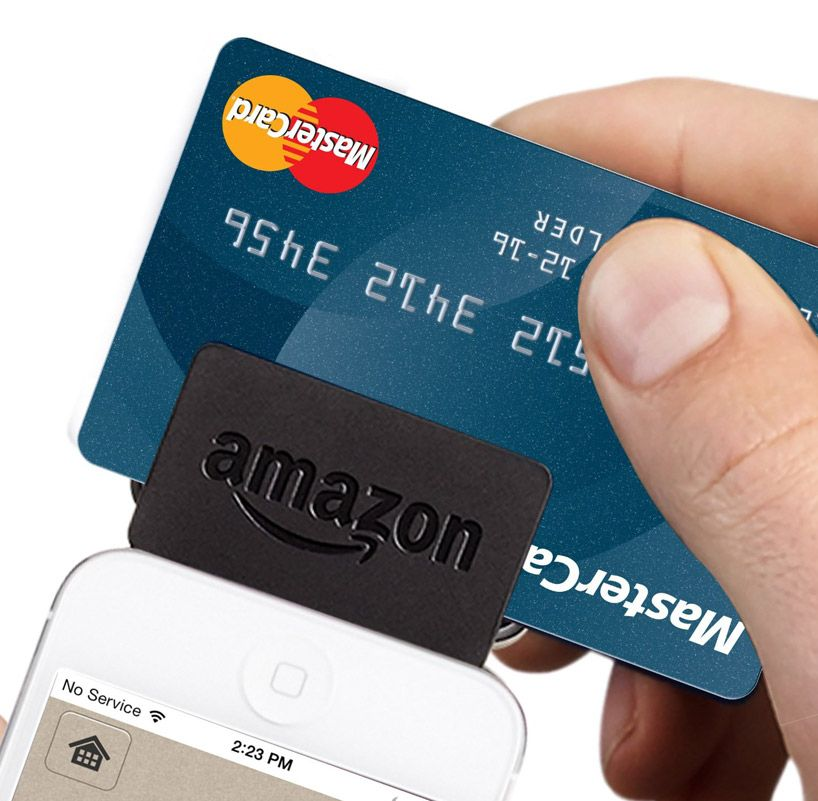 Amazon Introduces Local Register Secure Card Reader And Mobile App Credit Card Readers Secured Card Card Reader