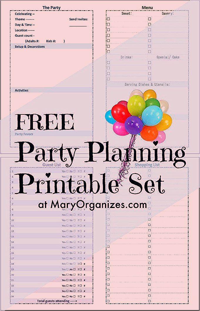 Photo of Party Planning Printable – creatingmaryshome.com