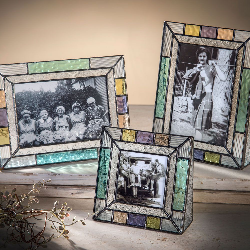 J Devlin Pic 372 Series Glass Photo Frames Pastel Multi Colors English Muffle Glass Picture Frames Glass Photo Frames Frame
