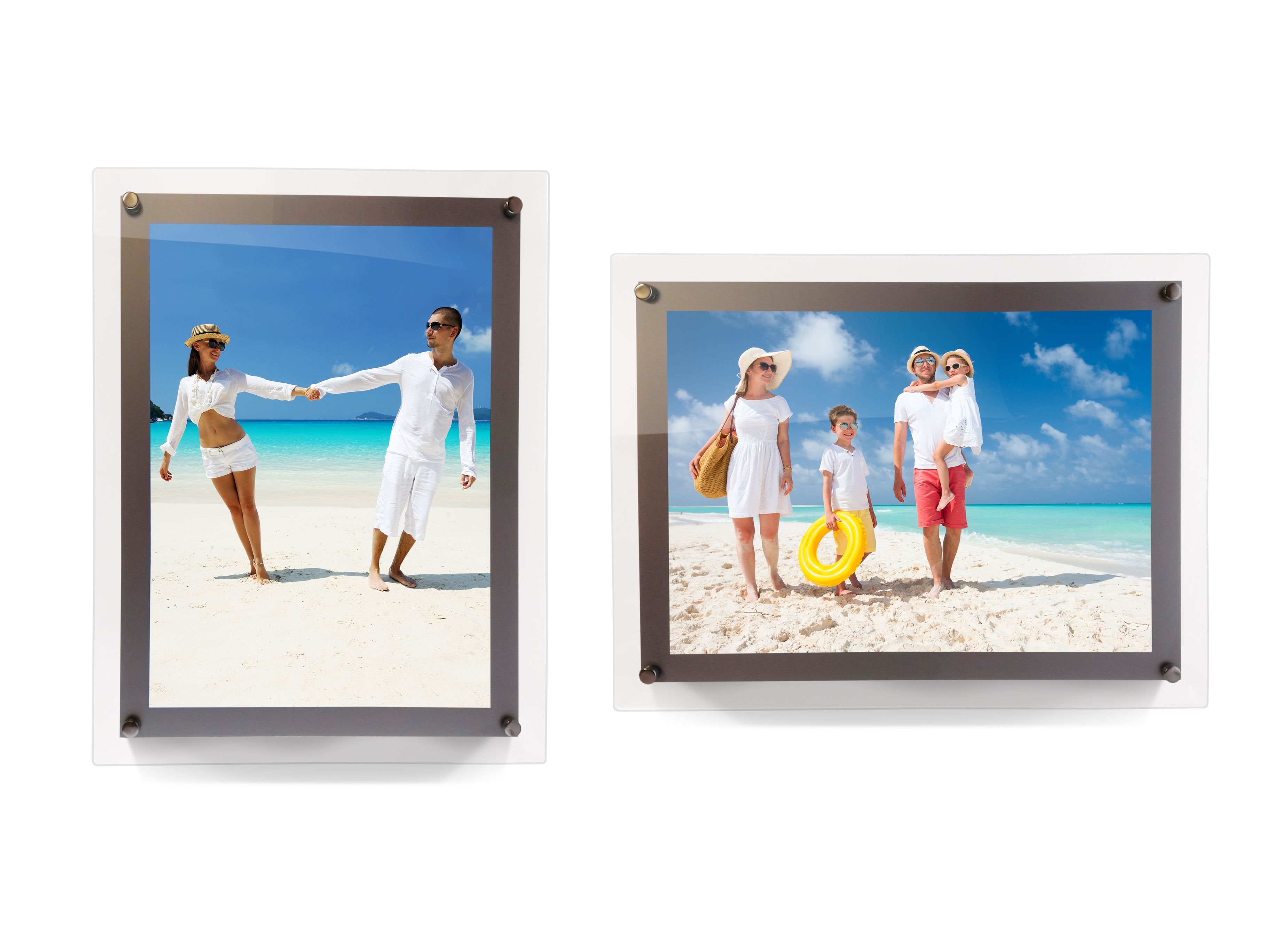 With Modern Lines Our Stylish Led Acrylic Backlit Frame Provides A Soft Glow During The Day And Adds Brilliant Color To Custom Photo Printing Frame Acrylic Frames