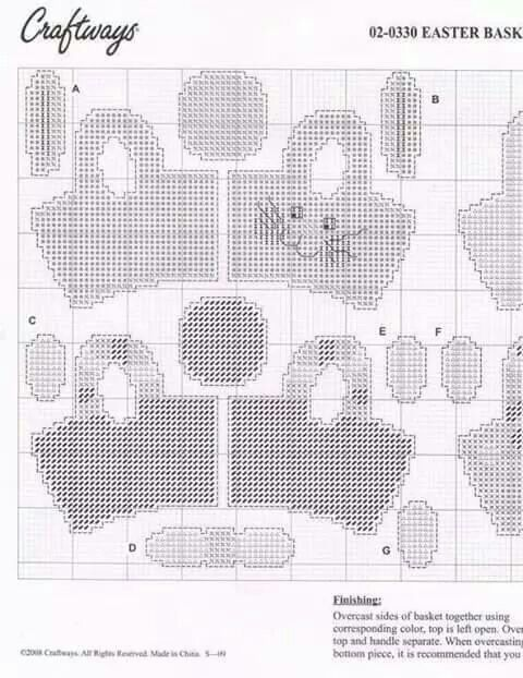 Mini Easter Treat Baskets Plastic Canvas Patterns Canvas