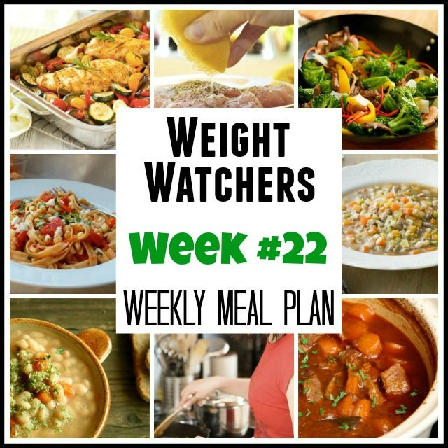 Weight Watchers Weekly Meal Plans Week #22