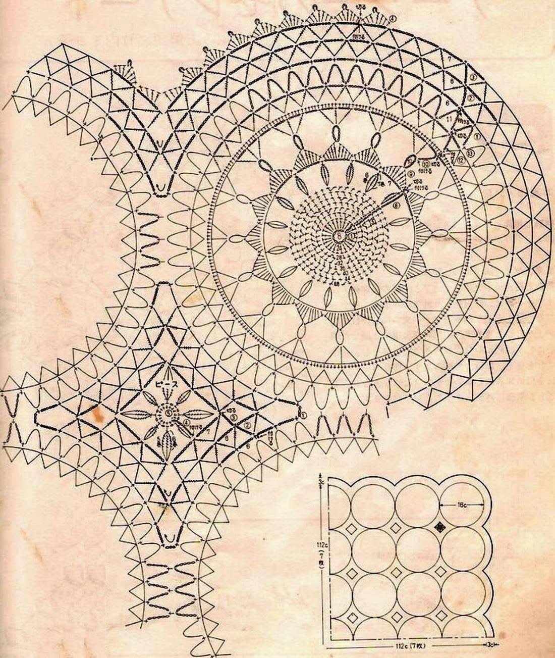 Crochet Art: Crochet Tablecloth Pattern - Vintage Crochet   Crochet ...