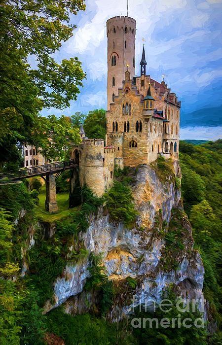 Lichtenstein Castle - Germany by Gary Whitton