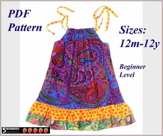 Pillowcase Dress Pattern + Free Mother-Daughter Apron Pattern, Maria ...