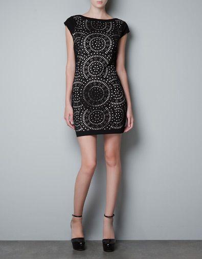 DRESS WITH CUT OUT DESIGN - Dresses - Woman - ZARA Singapore