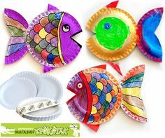 6 Cool Winter Break Crafts! Paper Plate FishPaper ...  sc 1 st  Pinterest & 6 Cool Winter Break Crafts! | Winter breaks Craft and Paper plate art