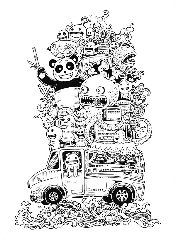 Interview with Kerby Rosanes and his Amazing Doodles | Crazy doodles ...