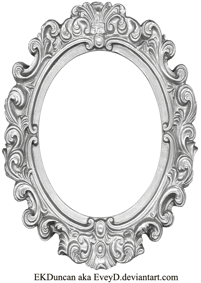 Ornate Silver Frame - Long Oval by EveyD.deviantart.com on ...