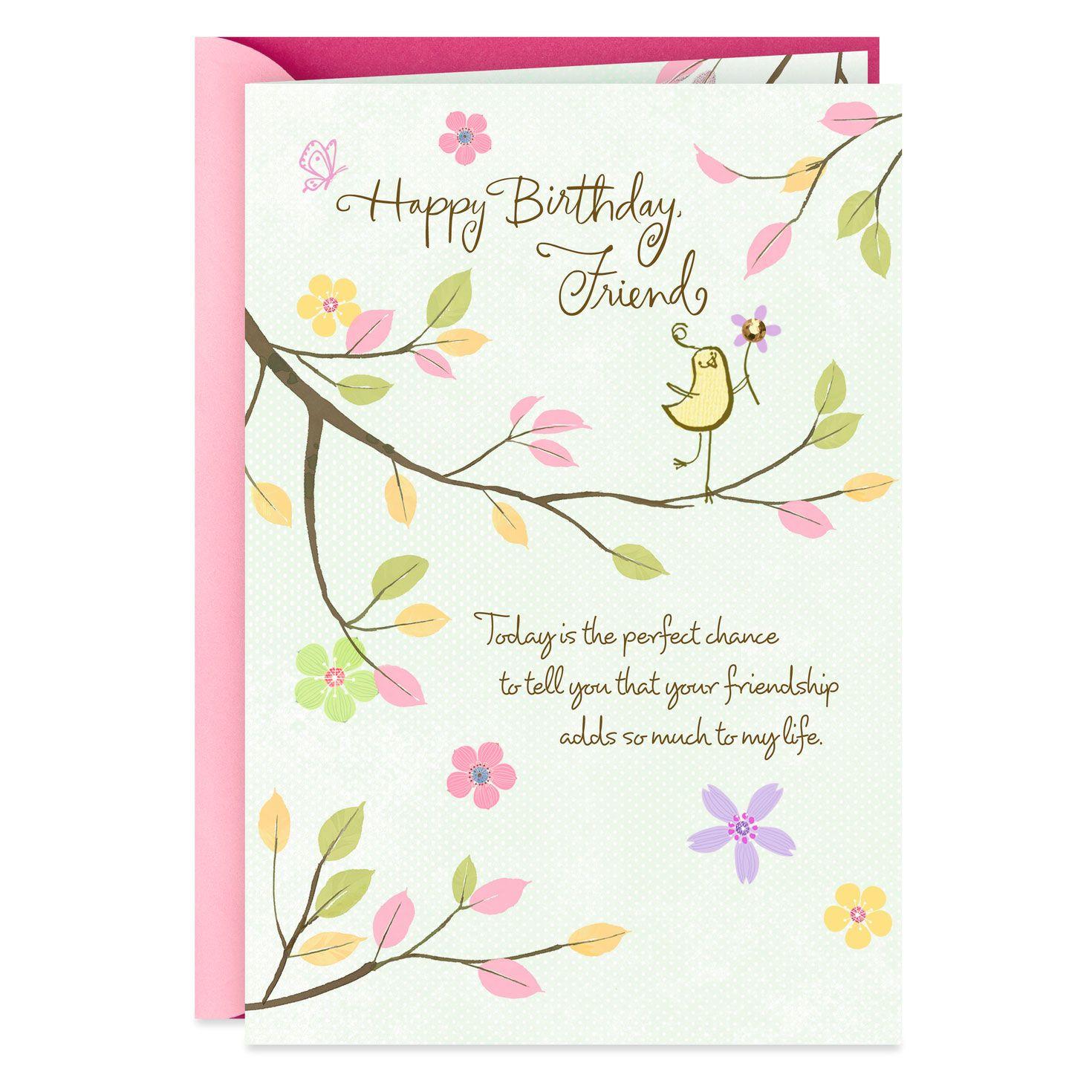 Thankful Friend Birthday Wishes Card in 2020 Happy