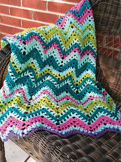 Crochet - Afghans & Throws - Assorted Patterns - Temperature Chevron ...