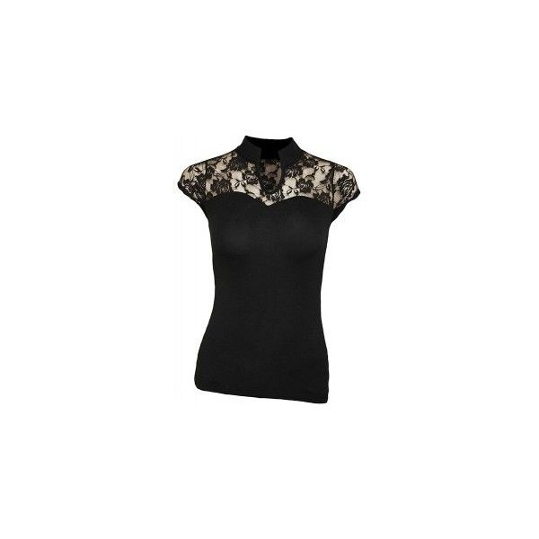 F High Neck Lace Corset Top ($28) ❤ liked on Polyvore featuring tops, lace corset, corsette tops, gothic corset, goth corset tops and lace top