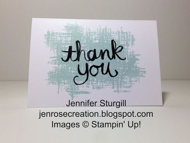 jen rose creation soft sky thank you note card stampin up