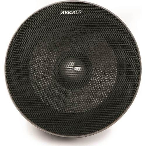 KICKER - QS Series 6-1/2 2-Way Component Speakers with Polypropylene Cones (Pair) - Black #componentspeakers