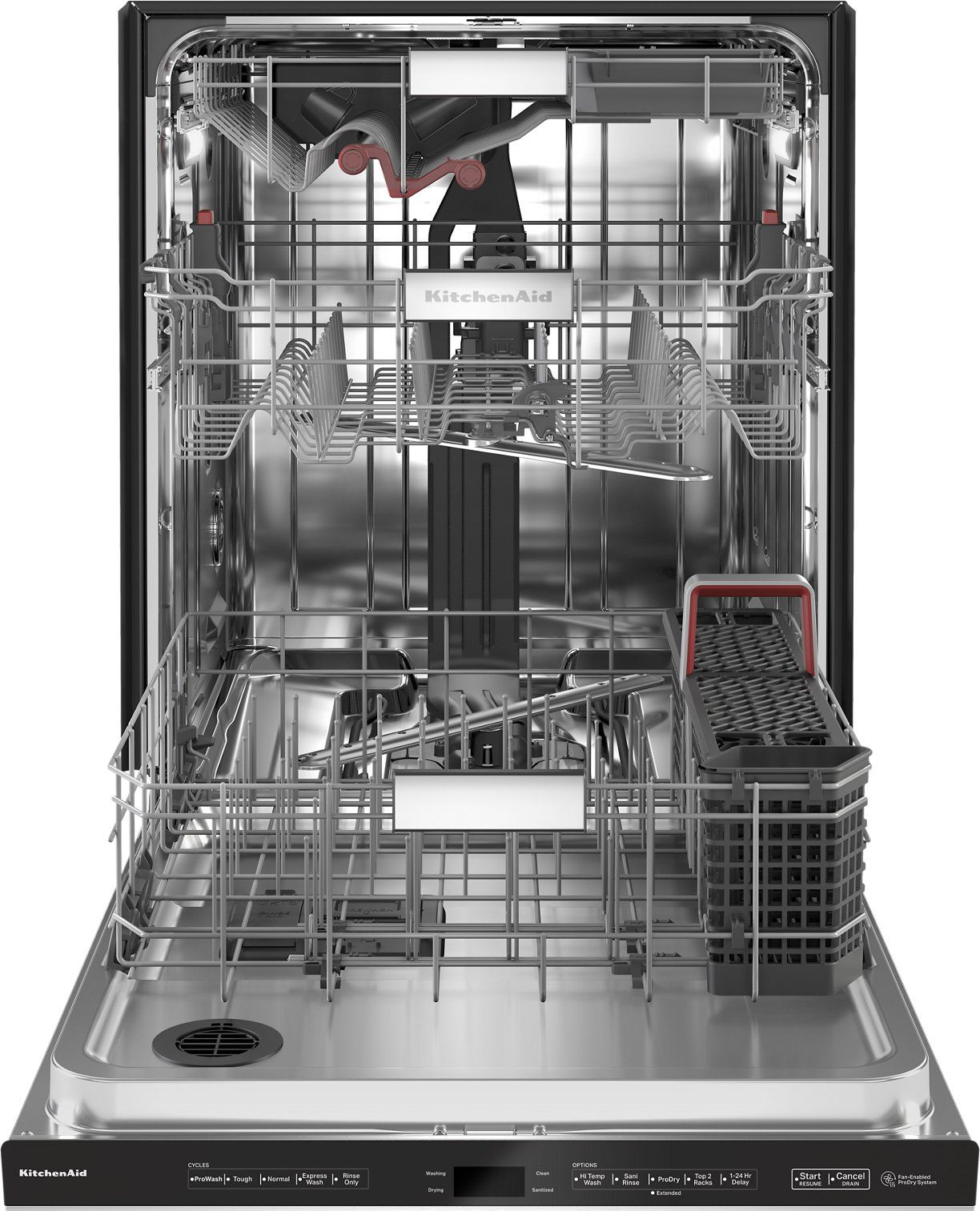 Kitchenaid 24 Inch Dishwasher With Top Controls And Led Lighting Stainless Steel In 2020 Built In Dishwasher Stainless Steel Dishwasher Black Dishwasher