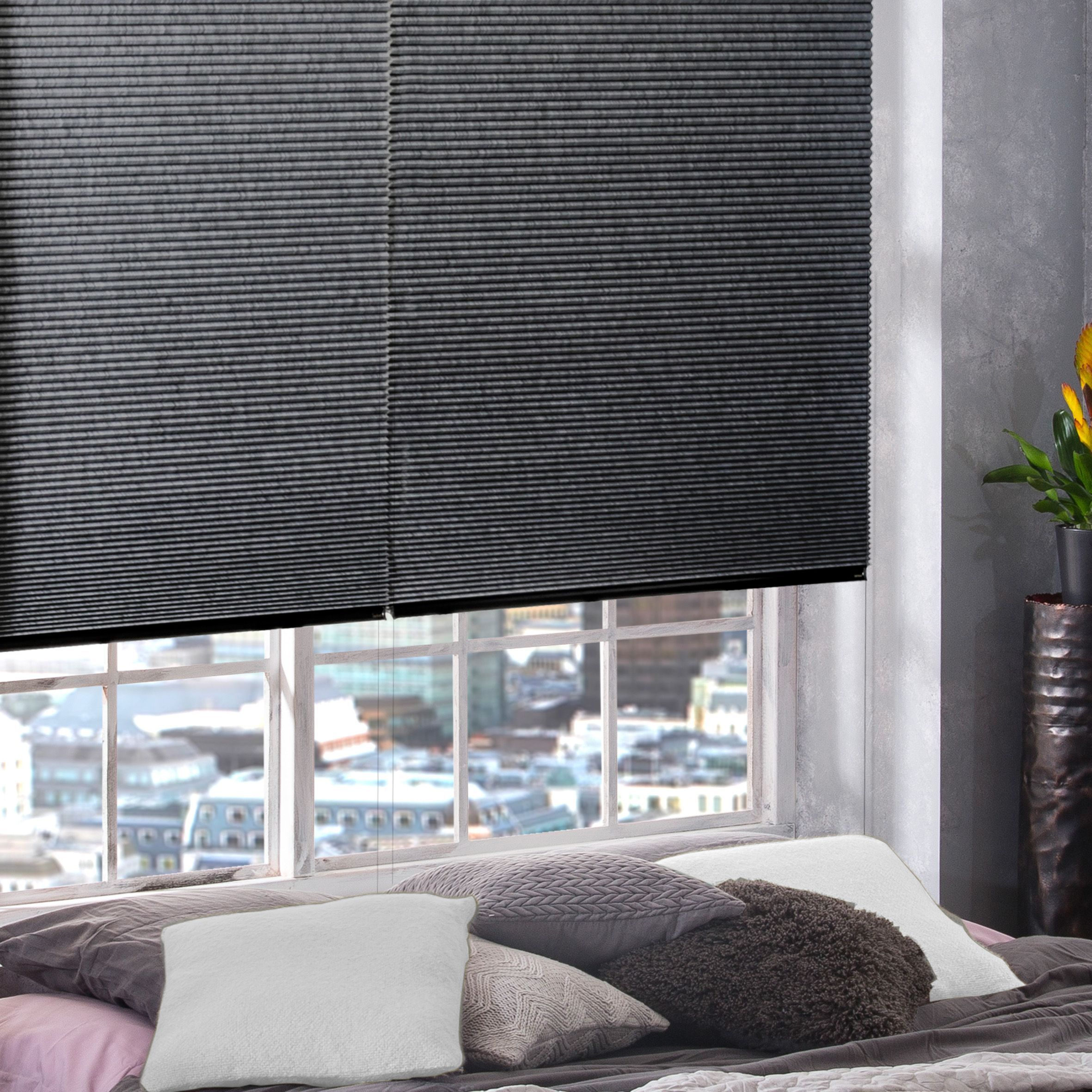 Hive Blinds From Style Studio Best Blinds For Summer Contemporary Charcoal Grey Colour Inspir Living Room Blinds Ikea Living Room Blinds Curtains With Blinds