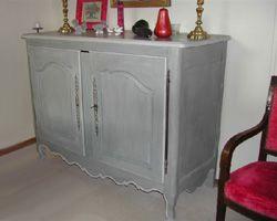 Meubles Peints Transformation Facile Mobilier De Salon Peinture A La Caseine Meubles Gris