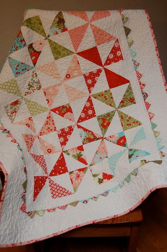 Pinwheel Baby Quilt Great Play Mat And Sensory Blanket