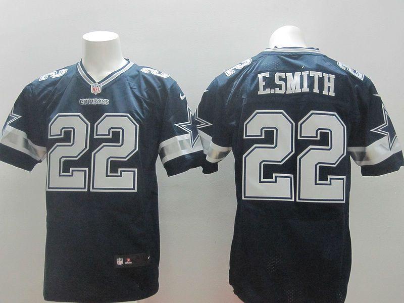 brand new 80f3f d7565 NFL Nike Dallas Cowboys E.SMITH #22 Dark Blue Elite Jerseys ...