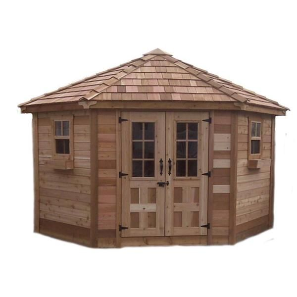 outdoor living today 9 x 9 penthouse garden shed with french doors - Garden Sheds 5 X 9