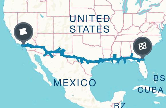 Ultimate Road Trip Guide The Best Of Everything Along I 10 Road Trip Fun Road Trip Map Road Trip Usa