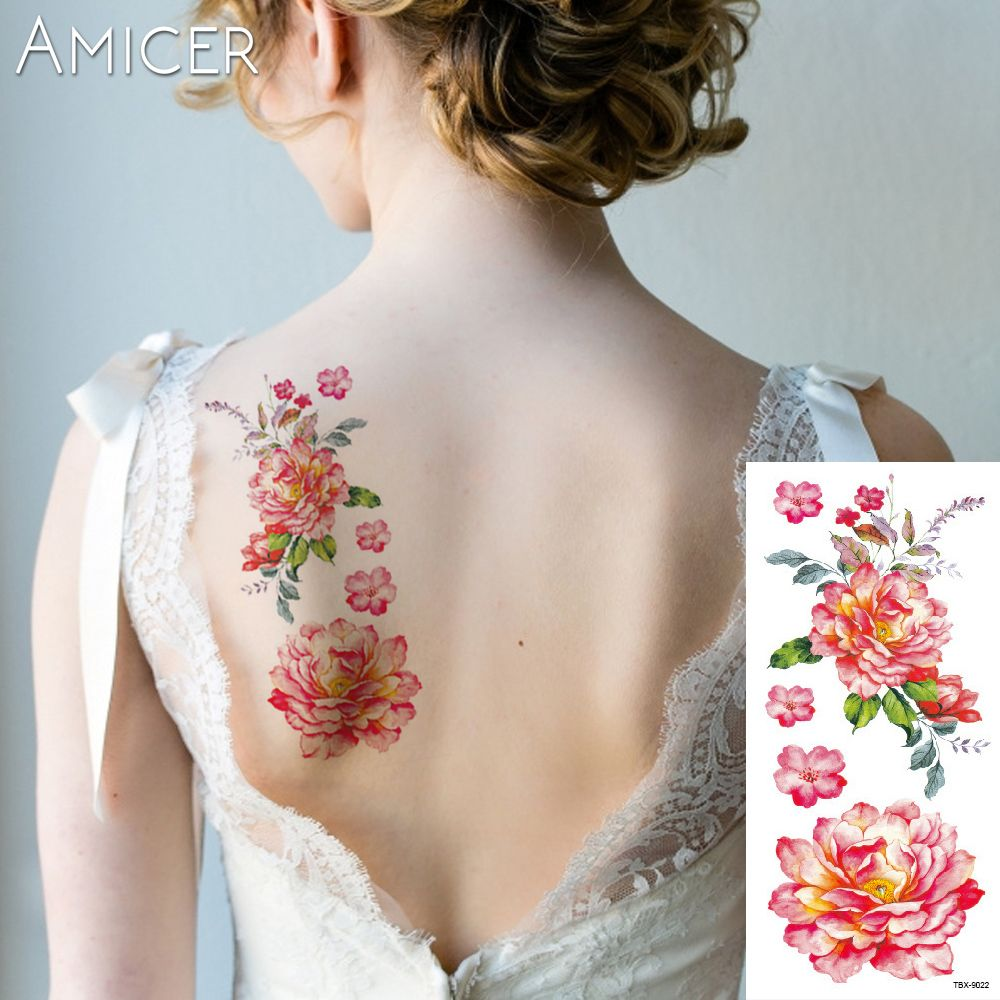 piece flash henna tattoo fake temporary tattoos stickers sexy rose
