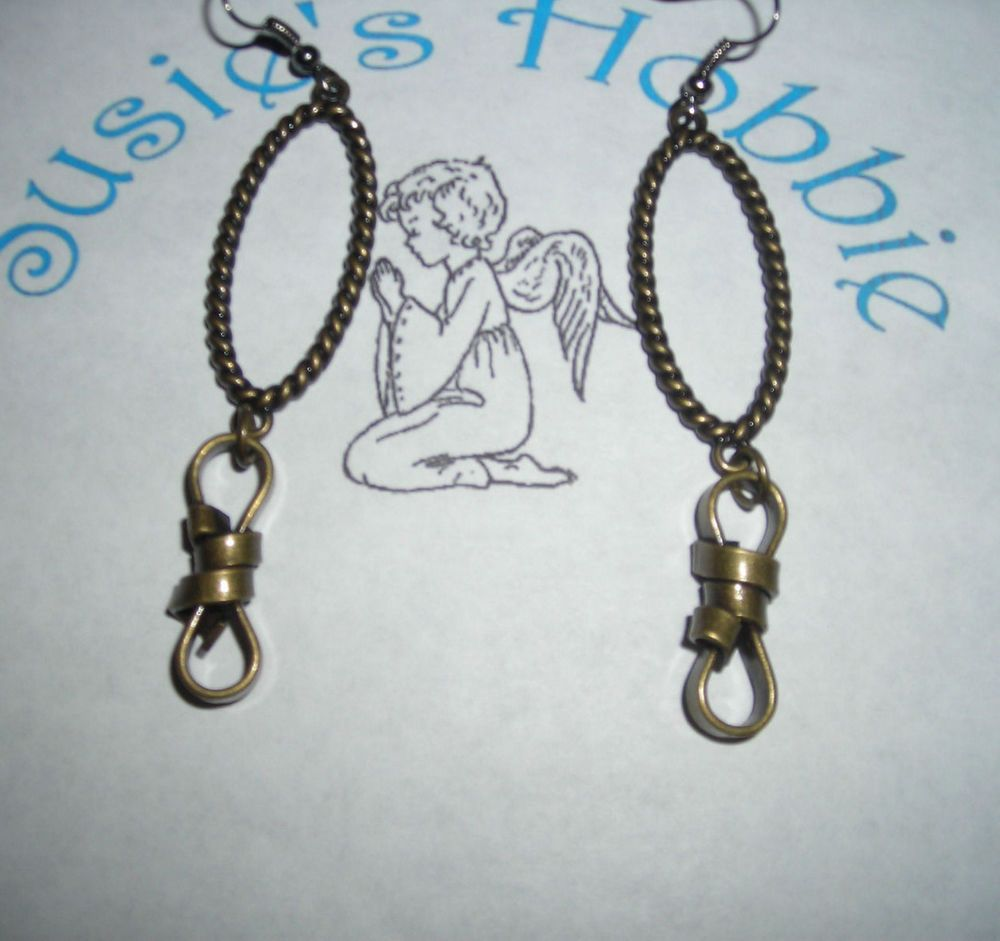 Handmade Hook Dangling Earrings with Knot/Lightweight/Fun to wear/Great Gift #Handmade #DropDangle/$7.00