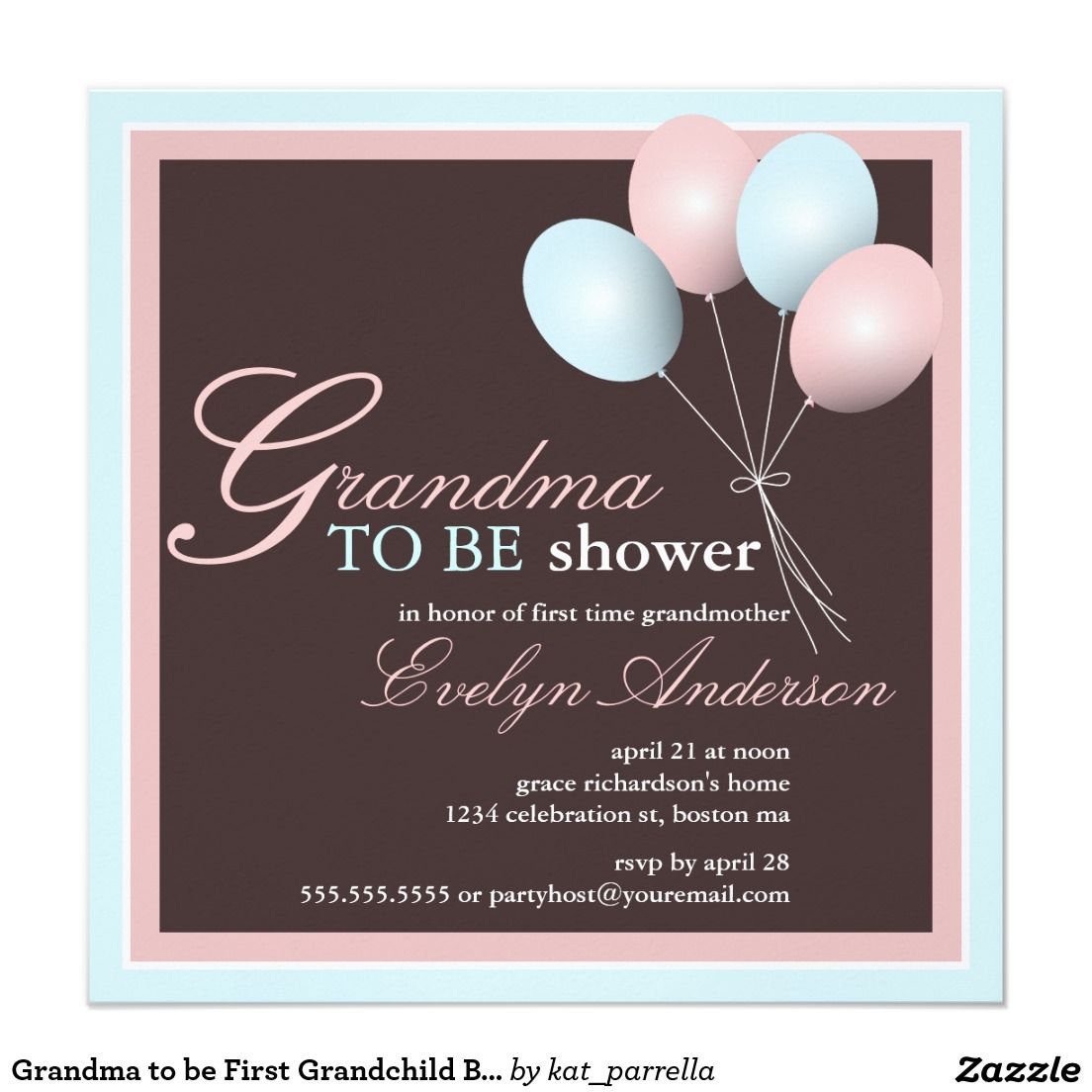 Grandma To Be First Grandchild Baby Shower Card  Grandma Gifts