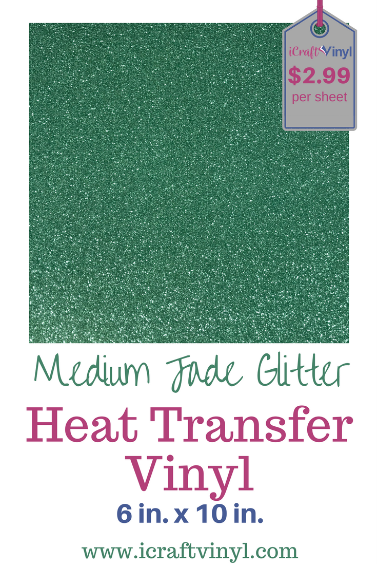 Our Medium Jade Glitter Htv Is Just What Your Heat Transfer Vinyl Collection Has Been Missi Glitter Heat Transfer Vinyl Htv Vinyl Heat Transfer Vinyl