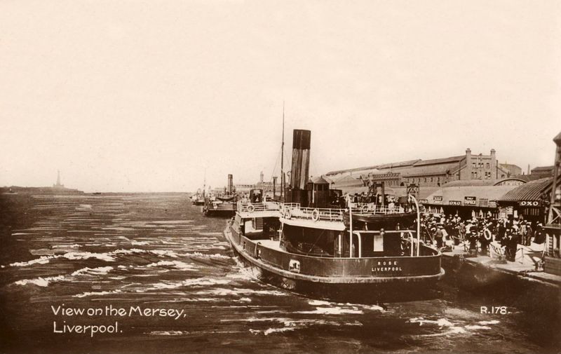 The Mersey, Liverpool. #postcards