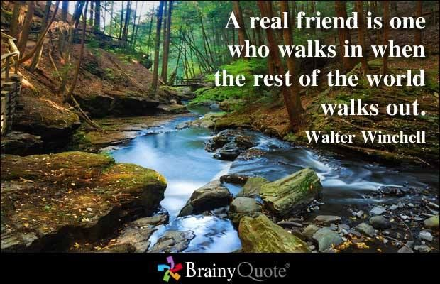 a real friend...