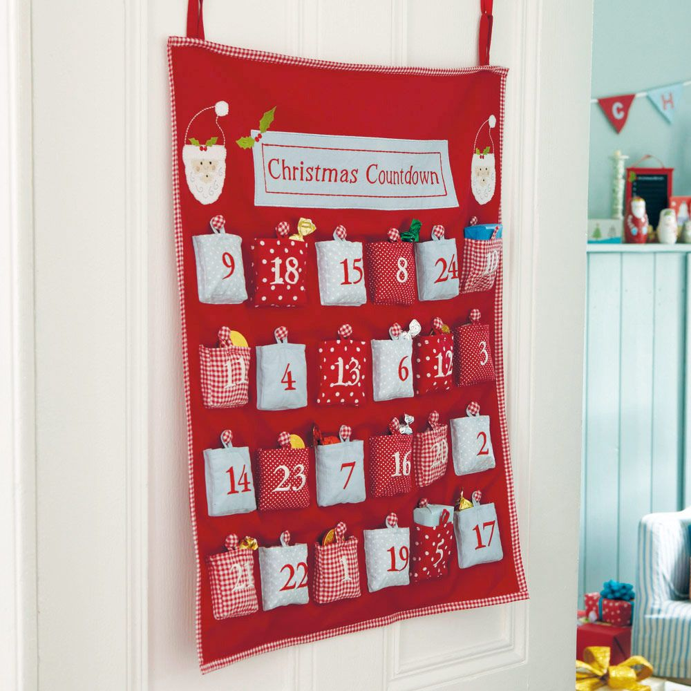 Advent Calendar Ideas Uk : Christmas countdown fabric advent calendar